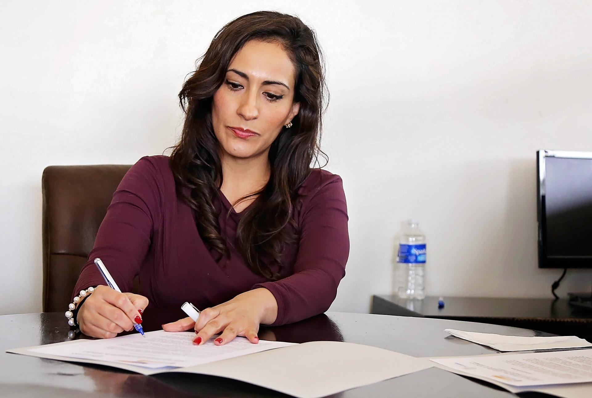 Carta de solicitud de empleo en el campo de la contabilidad